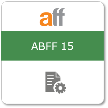 ABFF 15, Tryckt